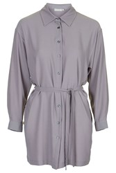 Grey Shirt Dress By Love
