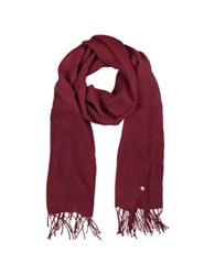 Mila Schon Burgundy Wool And Cashmere Stole