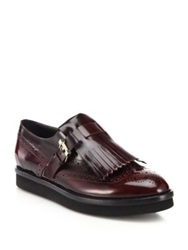 Tod's Leather Wingtip Loafers Brown