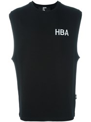 Hood By Air Chest Logo Sleeveless Sweatshirt Black