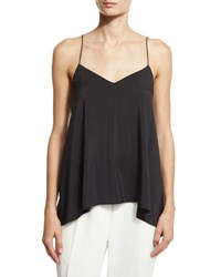 Brunello Cucinelli Silk Cami Top W Monili Straps Gray