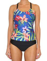 Next Third Eye Shirred Tankini Top Multi