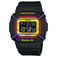 Casio Unisex Baby G Day Date Resin Strap Watch Black Multi