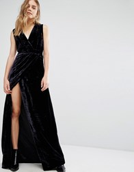 Gestuz Maxi Dress In Velvet Blue