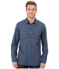 Fj Llr Ven Greenland Shirt Uncle Blue Men's Long Sleeve Button Up Gray