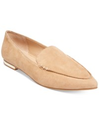 Steve Madden Women's Fausto Pointed Toe Loafers Women's Shoes Camel Suede