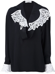 Gianfranco Ferre Vintage Embellished Blouse Black