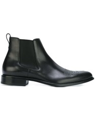 Givenchy Cowboy Stitching Ankle Boots Black