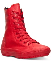 Converse Women's Chuck Taylor High Rise Boots From Finish Line Red Red Red