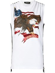 Dsquared2 American Flag Sleeveless T Shirt