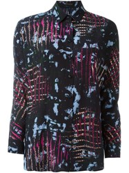 Versace Abstract Print Shirt Blue