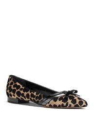 Michael Kors Joey Cheetah Print Calf Hair Flats Fawn Cheetah