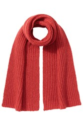 Closed Scarf With Alpaca And Wool Red