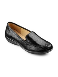 Hotter Jazz Lightweight Slip On Loafers Black Croc