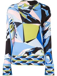 Emilio Pucci Abstract Print Longsleeved Blouse