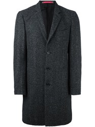 Paul Smith Ps By Single Breasted Tweed Coat Grey