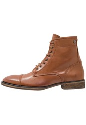 Sneaky Steve Conway Laceup Boots Cognac