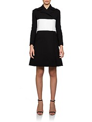 Carven Colorblock Coat Black