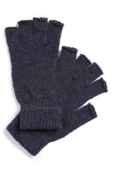 Men's The Rail Fingerless Gloves Blue 2 For 16 Navy Marle