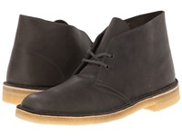 Clarks Desert Boot Grey Leather Men's Lace Up Boots Gray