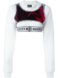 Nasir Mazhar Layered Cropped Sweatshirt
