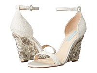 Blue By Betsey Johnson Alisa Ivory Women's Wedge Shoes White