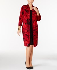 Connected Plus Size Layered Look Jacket Dress