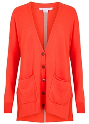 Duffy Coral Oversized Cashmere Cardigan Red