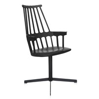 Kartell Comback Swivel Chair Black