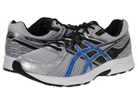 Asics Gel Contend 3 Silver Electric Blue Black Men's Running Shoes Gray
