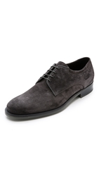 Vince Manny Suede Oxfords Graphite