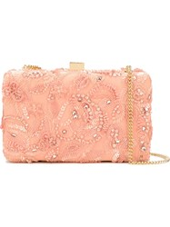 Elie Saab Sequin Embroidery Clutch Pink And Purple