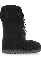 Aquazzura Boho Karlie Fringed Shearling Lined Suede Boots