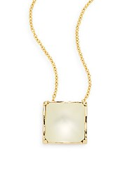 Alexis Bittar Lucite Pyramid Pendant Necklace Gold