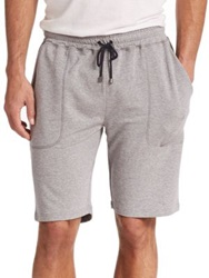 Saks Fifth Avenue Jersey Shorts Grey