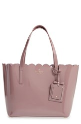 Kate Spade New York 'Lily Avenue Patent Small Carrigan' Leather Tote Grey Porcini Rose Taupe