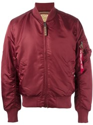 Alpha Industries Sleeve Detail Bomber Jacket Red