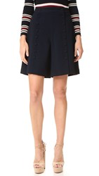 See By Chloe Flare Shorts Navy