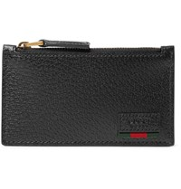 Gucci Textured Leather Cardholder Black