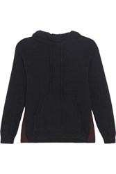 Chinti And Parker Cashmere Hooded Top Navy
