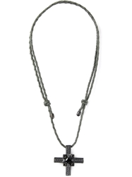 Stefano Tartini Cross Spinel Necklace Metallic