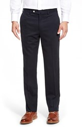 Men's Big And Tall Peter Millar 'Como Sport' Flat Front Trousers Royal Navy