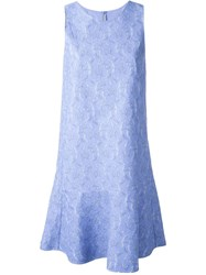 Ermanno Scervino Lace Jacquard Dress Blue
