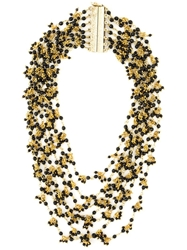 Rosantica Multi Strand Beaded Necklace Black