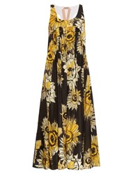 N 21 Sunflower Print Scoop Neck Dress White Multi