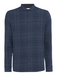 Criminal Men's Darby Large Check Ls Shirt Navy