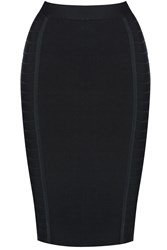 True Decadence Bandage Bodycon Midi Skirt Black