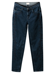 East Embroidered Weekend Jeans Indigo