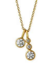 Memoire Forevermark 18K Yellow Gold Four Diamond Pendant Necklace