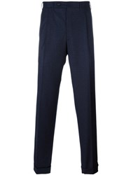 Canali Pleated Regular Trousers Grey